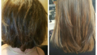 before and after hair extensions